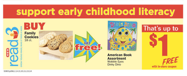H-E-B heb Read3 early childhood literacy meal deal free children's book