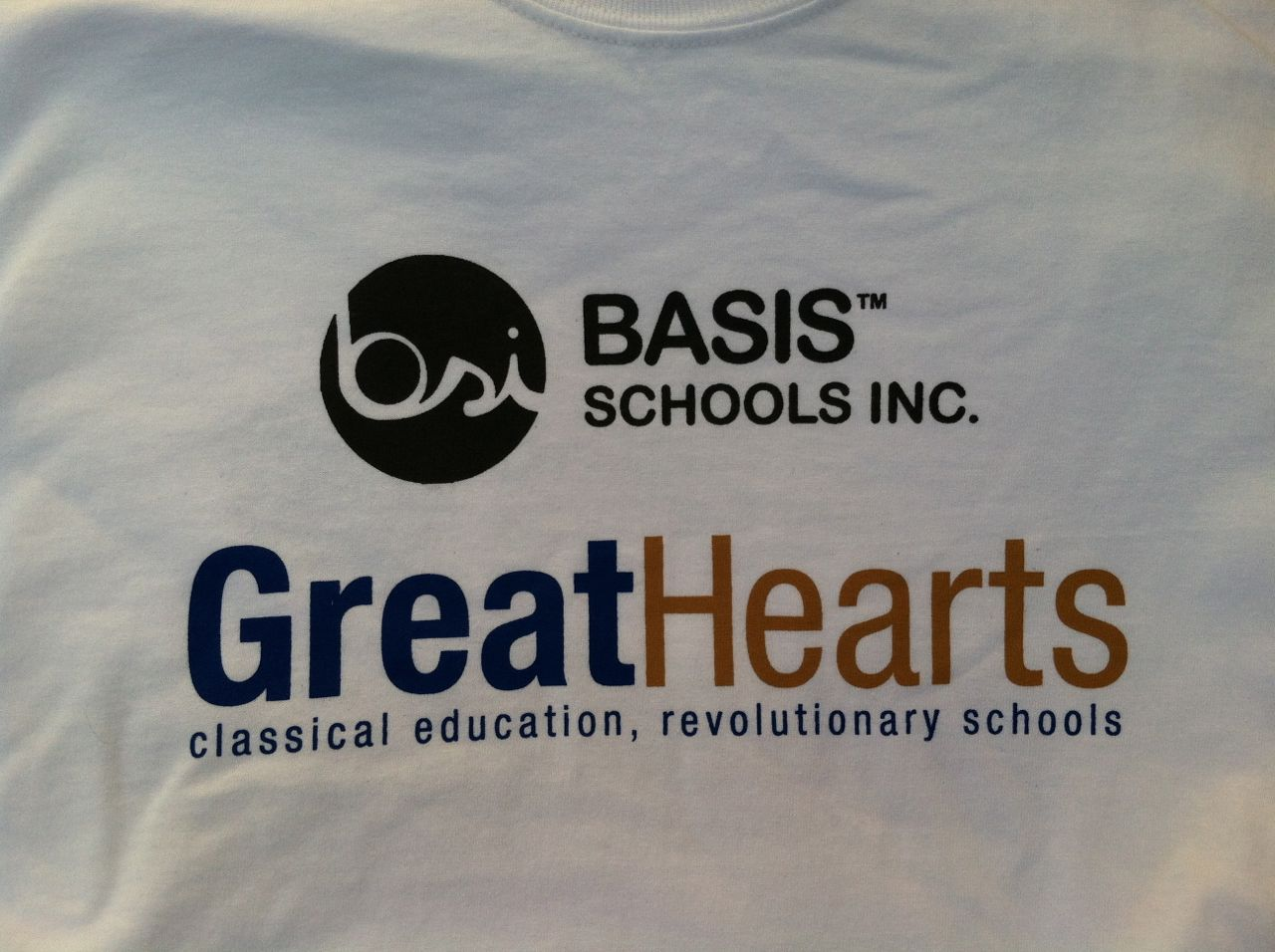 BASIS Schools Inc. Great Hearts Academies San Antonio charter school T-shirt