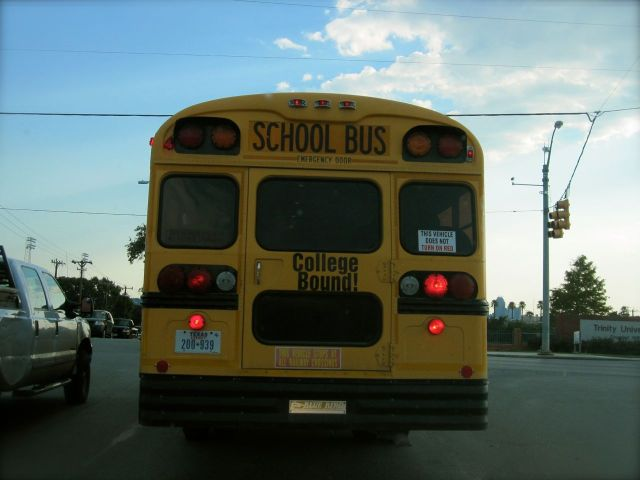 KIPP Knowledge Is Power Program San Antonio school bus college bound Hildebrand Devine Stadium Drive