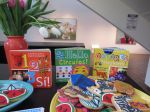Arte Kids books from Trinity University Press at the San Antonio Museum of Art, with matching Lily's Cookies
