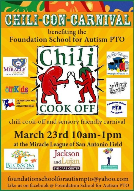 Chili-Con-Carnival March 23 Foundation School for Autism PTO