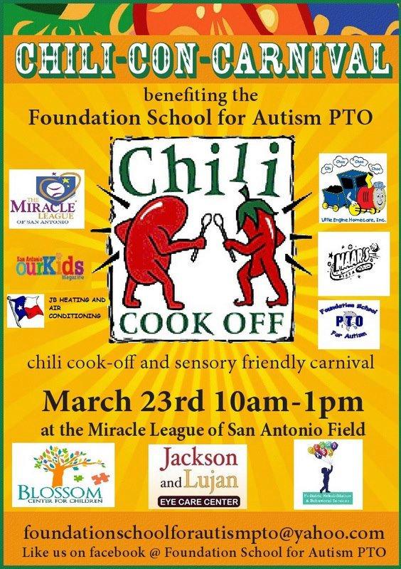 Chili-Con-Carnival March 23 Foundation School for Autism PTO