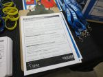 IDEA Public Schools charter school application at recruiting booth at PicaPica Plaza San Antonio Texas