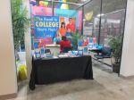 IDEA Public Schools charter school recruiting booth at PicaPica Plaza San Antonio Texas