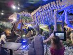 Yangchuanosaurus skeleton and 3D tablet in Dinosaurs Unearthed at the Witte Museum in San Antonio Texas