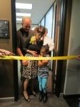 Senator Donna Campbell and family preparing for ribbon cutting at district office District 25 San Antonio Texas