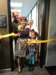 Senator Donna Campbell and family cut the ribbon at district office District 25 San Antonio Texas