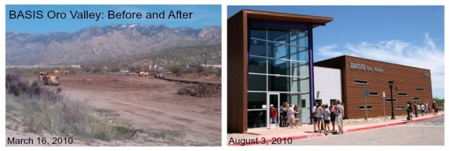 BASIS Oro Valley before and after 2010 BASIS Schools Inc. Tucson Arizona charter school