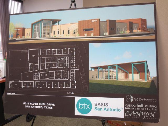 BASIS San Antonio Texas charter school campus plan elevation