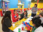 IDEA Public Schools Hailey McCarthy and Rolando Posada talk to San Antonio bloggers at Kiddie Park PicaPica San Antonio Texas