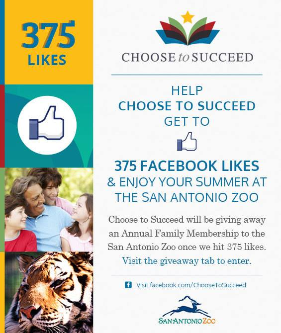 Choose to Succeed zoo membership giveaway Facebook