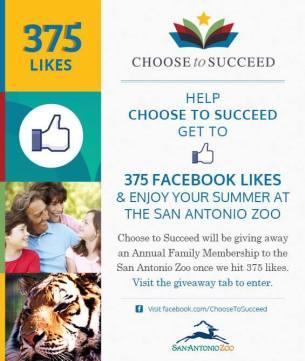 Choose to Succeed zoo membership giveaway Facebook