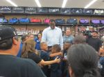 David Robinson at Academy with IDEA Carver students ready to shop for San Antonio Spurs gear for NBA Finals | San Antonio Charter Moms