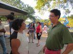 BASIS teacher Salinas and parent Michael Soto at BASIS San Antonio Boosters movie night at Woodlawn Lake Park | San Antonio Charter Moms