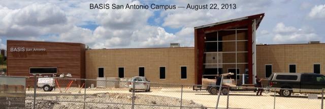 BASIS San Antonio campus -- August 22, 2013 | San Antonio Charter Moms