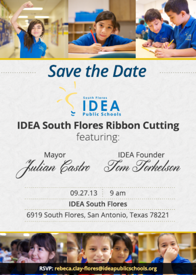 IDEA South Flores ribbon cutting September 27, 2013 | San Antonio Charter Moms