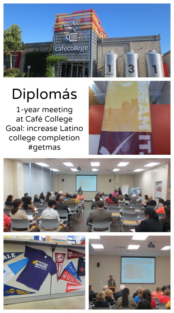 Diplomas one year meeting at Cafe College September 23-24 2013 goal increasing Latino college completion | San Antonio Charter Moms