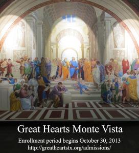 Great Hearts Monte Vista enrollment period begins October 30, 2013 | San Antonio Charter Moms
