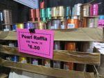Under Wraps pearl raffia ribbon at Holiday Ole Market 2013 - Junior League of San Antonio   San Antonio Charter Moms