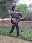 Elvis at Scarecrow Trail at San Antonio Botanical Garden | San Antonio Charter Moms