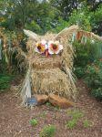 Water saver owl at Scarecrow Trail at San Antonio Botanical Garden | San Antonio Charter Moms