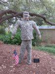 Soldier at Scarecrow Trail at San Antonio Botanical Garden | San Antonio Charter Moms