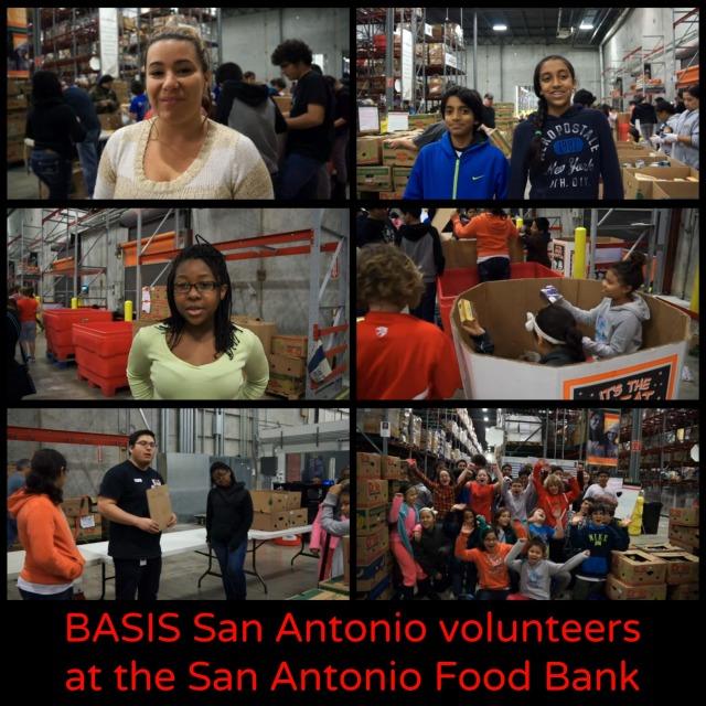 BASIS San Antonio volunteers at the San Antonio Food Bank | San Antonio Charter Moms