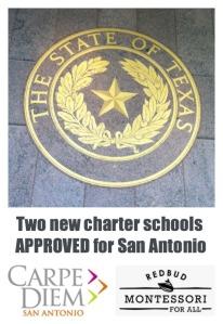 Two new charter schools approved for San Antonio: Carpe Diem San Antonio and Redbud Montessori For All | San Antonio Charter Moms