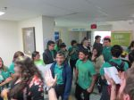 KIPP San Antonio March to College 2013 seniors walk down hallway | San Antonio Charter Moms