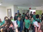 KIPP San Antonio March to College 2013 seniors walk down hallway   San Antonio Charter Moms