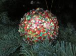 Glitter Christmas tree ornament - Holidays in Bloom at the San Antonio Botanical Garden | San Antonio Charter Moms