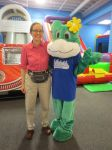 Inga Cotton and Frog at Inflatable Wonderland | San Antonio Charter Moms