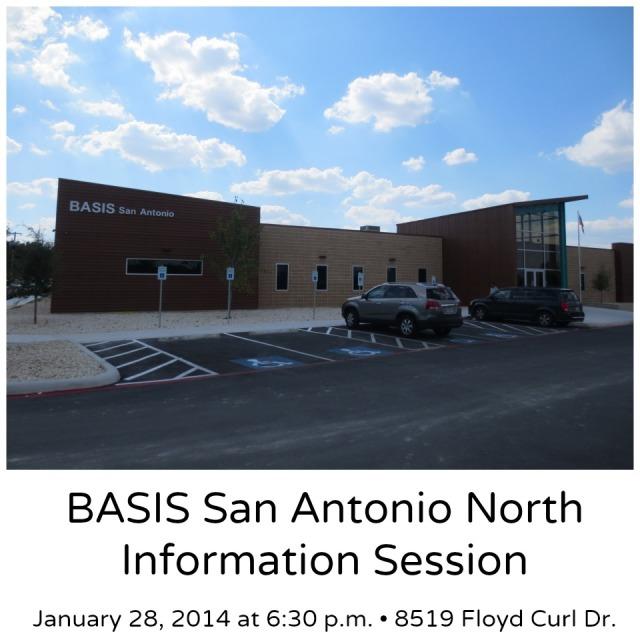 BASIS San Antonio North information session January 28, 2014 at 6:30 p.m. | San Antonio Charter Moms