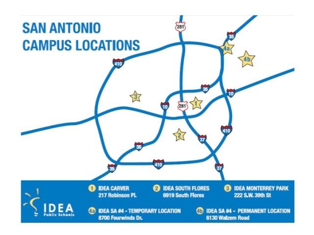 IDEA Public Schools San Antonio map 2014 | San Antonio Charter Moms