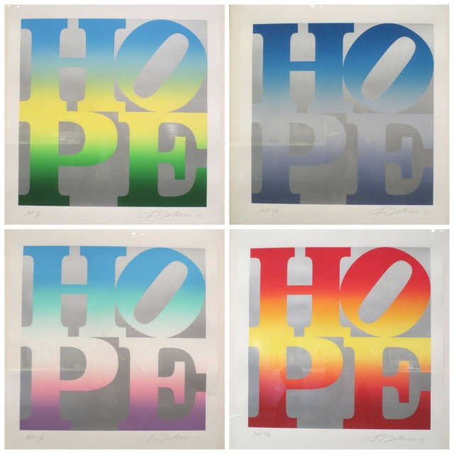 """HOPE"" prints by Robert Indiana at the McNay Art Museum 