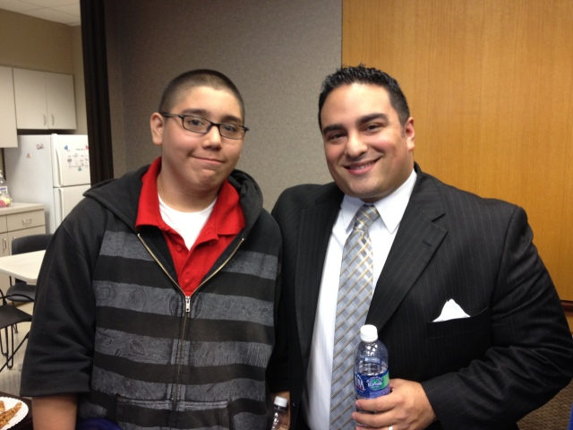 Big Brothers Big Sisters of South Texas: InspireU with a Little from Hawthorne Academy visiting his Big at MetLife | San Antonio Charter Moms