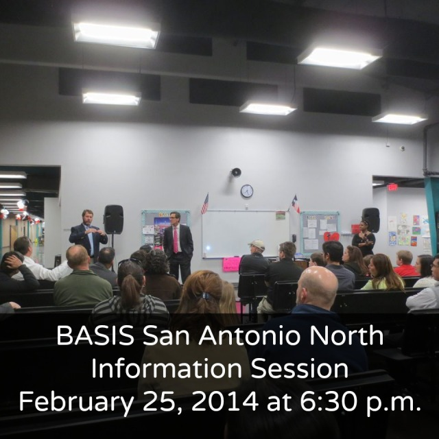 BASIS San Antonio North information session on February 25, 2014 at 6:30 p.m. | San Antonio Charter Moms