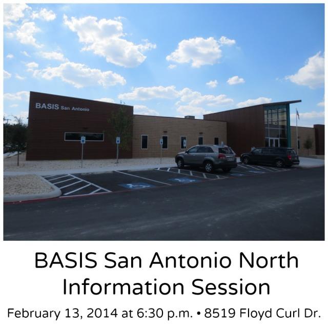 BASIS San Antonio North information session on February 13 at 6:30 p.m. | San Antonio Charter Moms