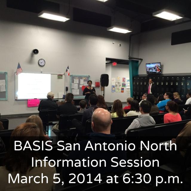 BASIS San Antonio North information session March 5 | San Antonio Charter Moms