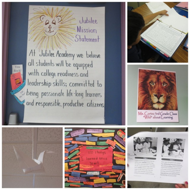Jubilee Academic Center mission statement, leadership binders, writing projects | San Antonio Charter Moms