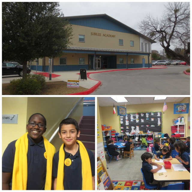 Jubilee Academy entrance, tour guides, and pre-K classroom | San Antonio Charter Moms