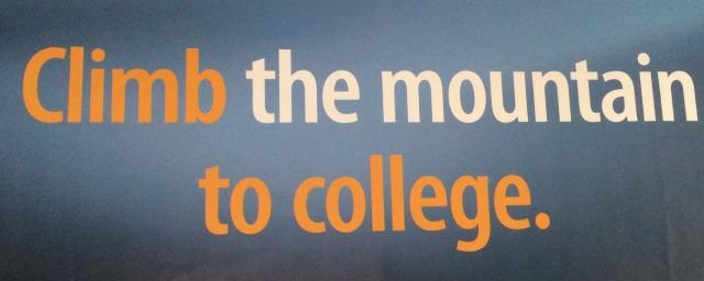 "KIPP banner ""Climb the mountain to college"" | San Antonio Charter Moms"
