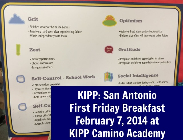 KIPP First Friday Breakfast February 7, 2014 at KIPP Aspire Academy | San Antonio Charter Moms