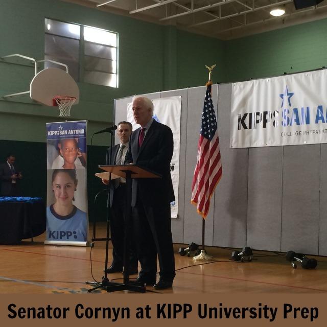 Senator Cornyn at KIPP University Prep | San Antonio Charter Moms