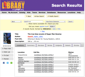 Search the online catalog at the San Antonio Public Library | San Antonio Charter Moms