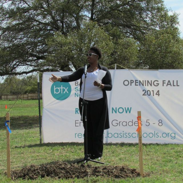Dr. Abigail Hasberry at BASIS San Antonio North groundbreaking | San Antonio Charter Moms