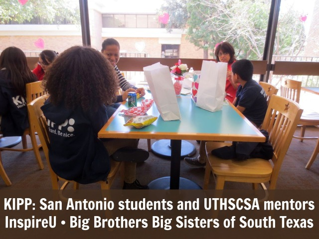 KIPP: San Antonio Students and UTHSCSA mentors meet through InspireU mentorship program at Big Brothers Big Sisters of South Texas | San Antonio Charter Moms