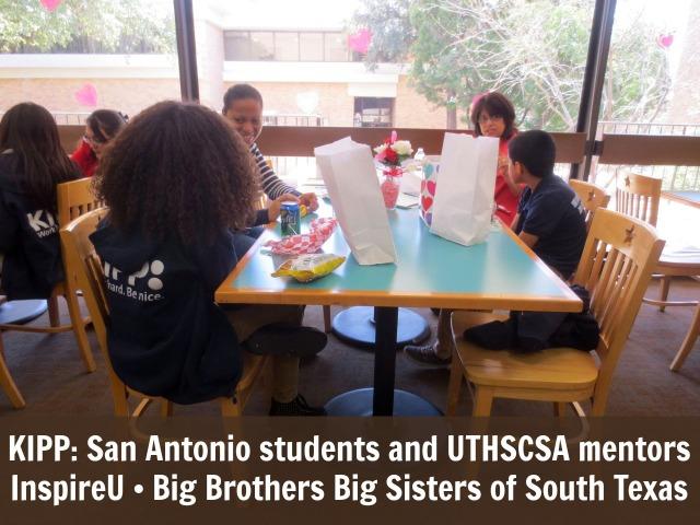 KIPP: San Antonio Students and UTHSCSA mentors meet through InspireU mentorship program at Big Brothers Big Sisters of South Texas | San Antonio Charter Moms