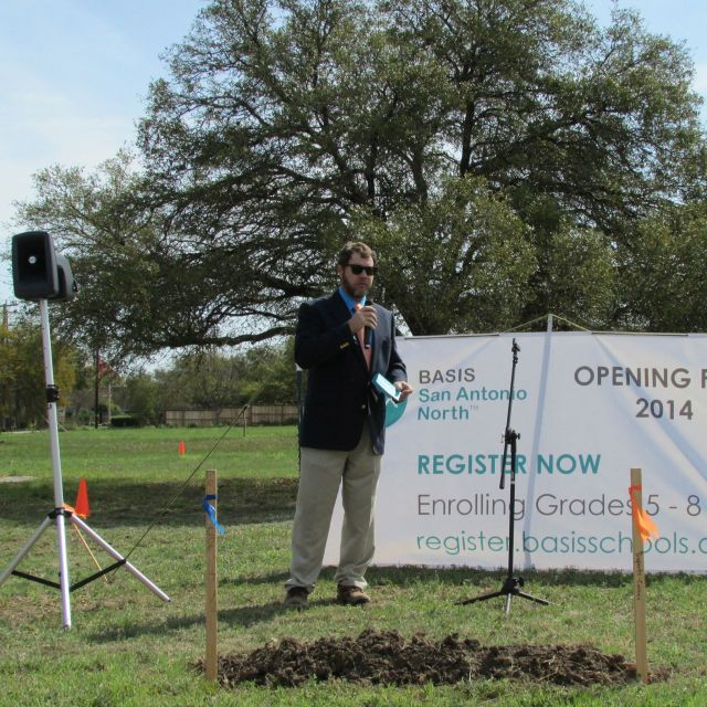 Dr. Jeff Richards at BASIS San Antonio North groundbreaking | San Antonio Charter Moms
