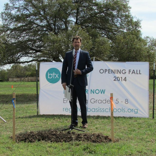 Jeffrey Houser, BASIS.ed, at BASIS San Antonio North groundbreaking | San Antonio Charter Moms